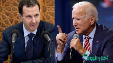 صورة بايدن يوجه رسالة حازمة للدول التي تريد التطبيع مع الأسد
