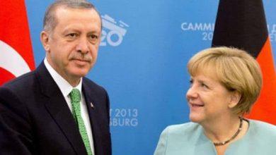 صورة بشارة للاجئين السوريين تفصح عنها المستشارة الألمانية ميركل مع الرئيس أردوغان